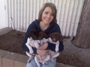 cassie and pups