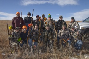 A group from Gander Mountain enjoys a day of hunting with their Bows!